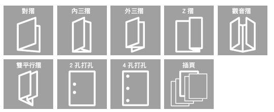 支援多種摺頁與打孔功能